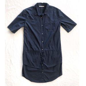Derek Lam 10 Crosby Navy Layered Shirt Dress
